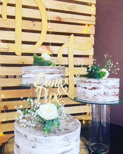 Mesa de torta personalizada