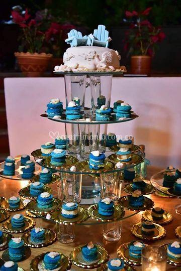 Mini nude cake y torta marina