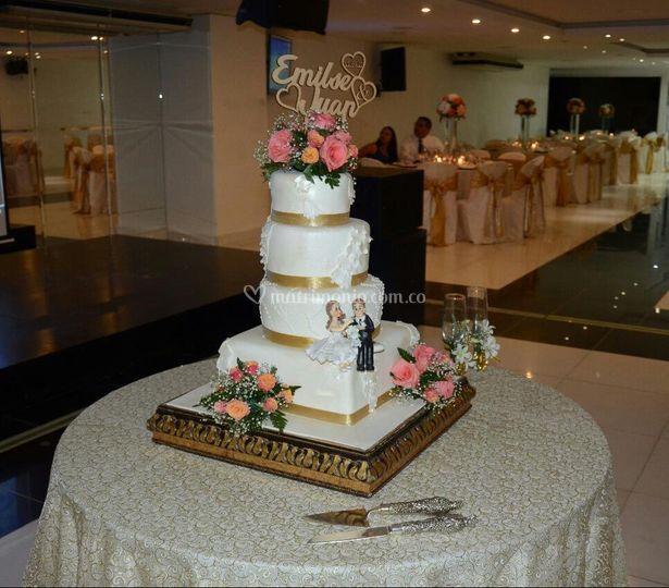 Pastel de la boda de Emilse