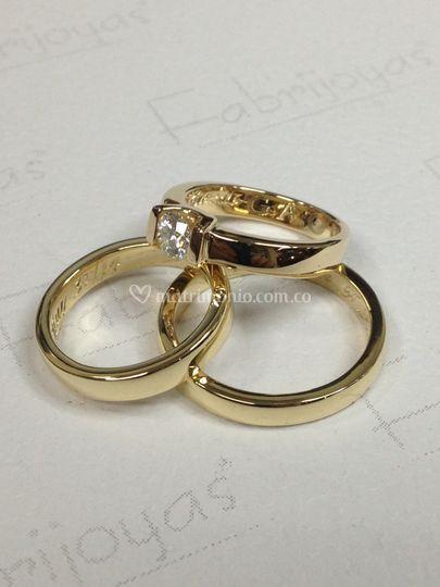 Argollas y anillo compromiso