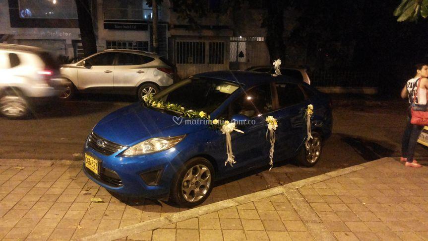 Decoración auto bodas