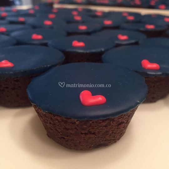Mini Cupcakes de brownie