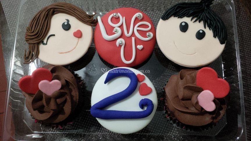 Cupcakes aniversario