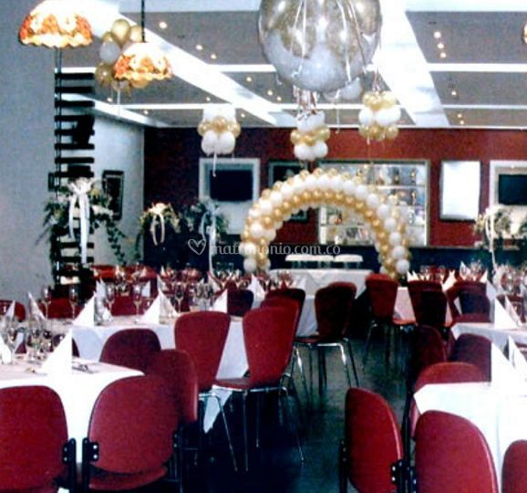 Salon decorado para el evento