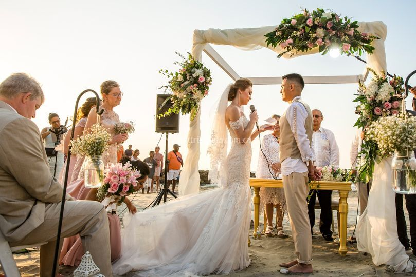 Maravillosa boda en playa