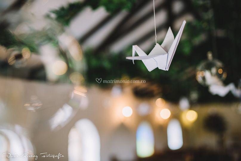 Capilla Gruyas blancas techo