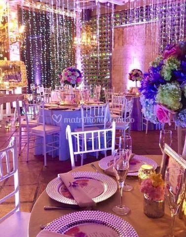 Mesas con adornos especiales