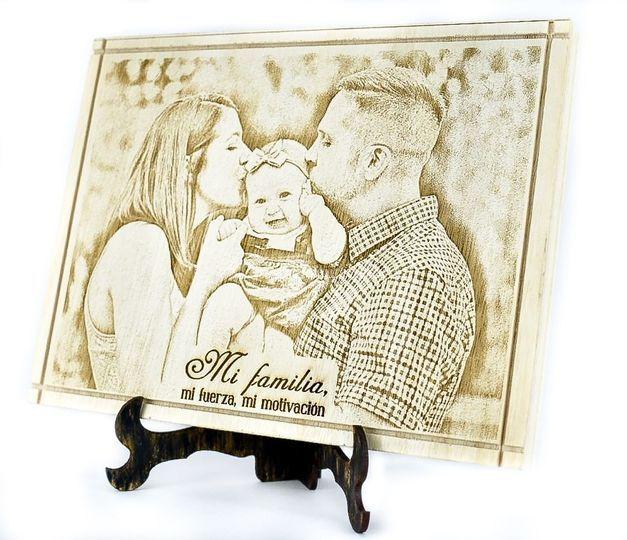 Foto en madera con base