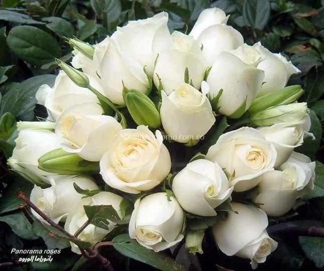 Bouquet en rosas y lirios