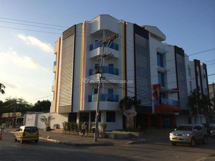 La fachada de Hotel Miraval