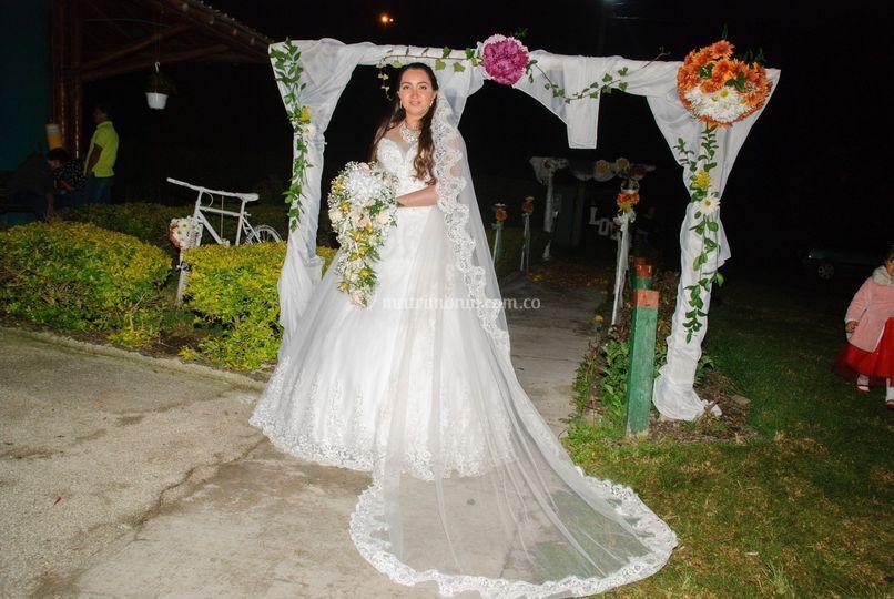 La novia en el pasillo
