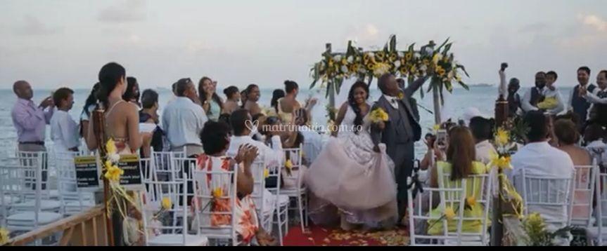 Matrimonio muelle del hotel