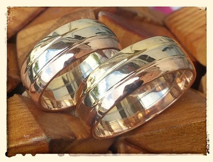 Anillos Matrimonio Tres oros