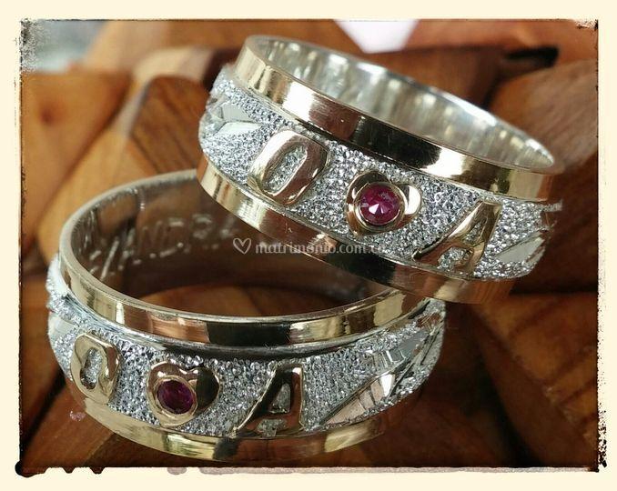 Anillos Matrimonio oro y plata