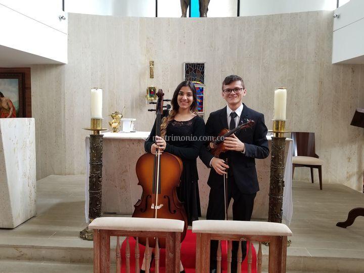 Violonchello y violín