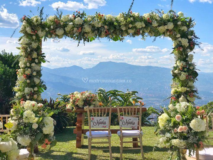 Arco ceremonia al aire libre