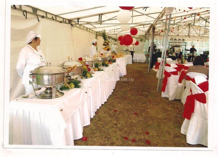 Servicio buffet asistido