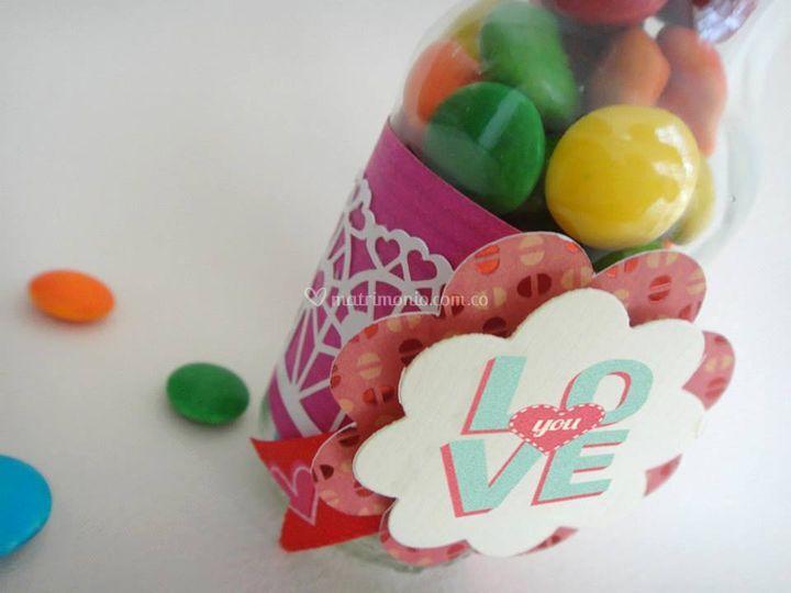 Frasco con dulces