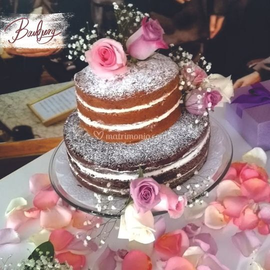 Naked cake amapola y chocolate