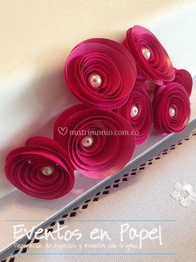 Rosa perla - decoración ponqué