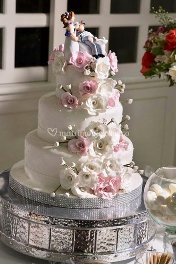 Torta Finamente decorada
