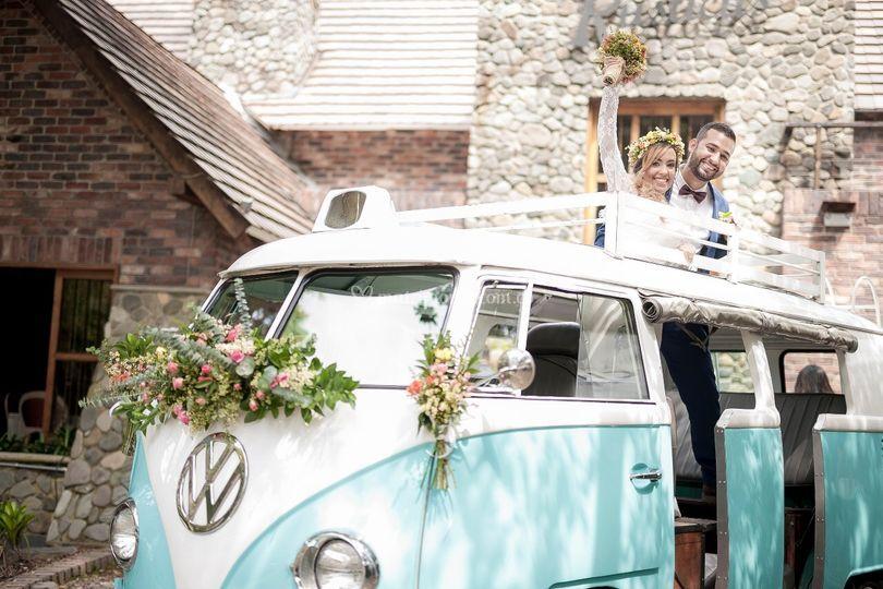 Volkswagen Combi azul celeste