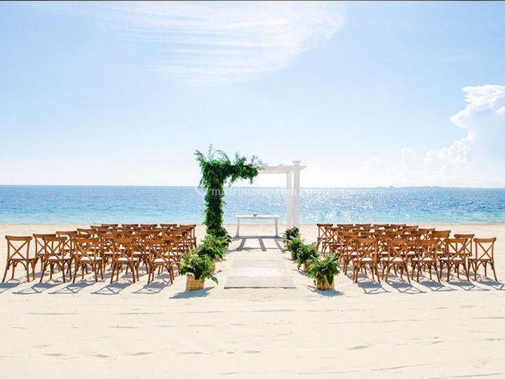 Escenografia de boda frente al