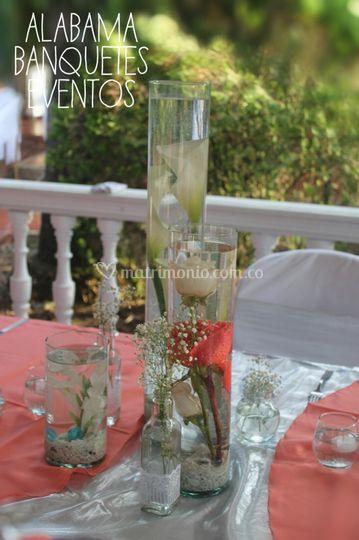 Centro de mesas y flores