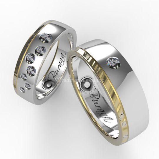 Diamantes incrustados n21 de Burana Joyeros