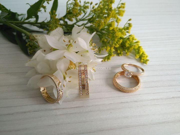 Argolla y Compromiso Oro