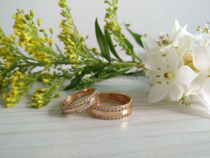 Argollas Oro y Diamantes