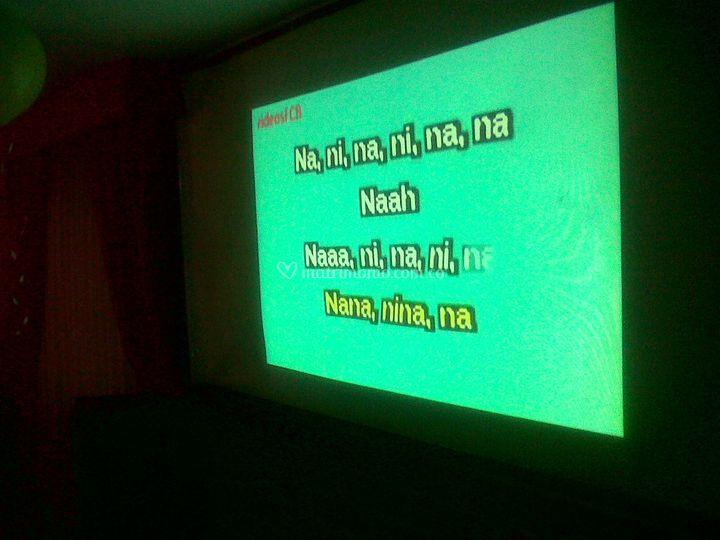 Karaoke en medio evento