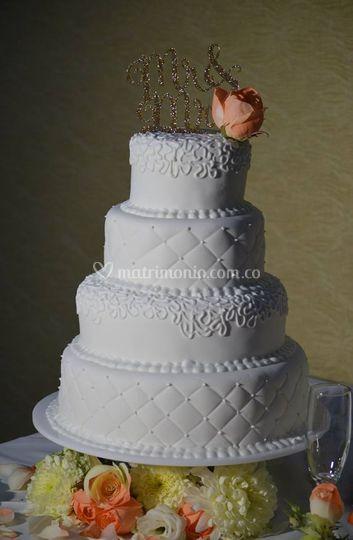 Pastel boda blanca