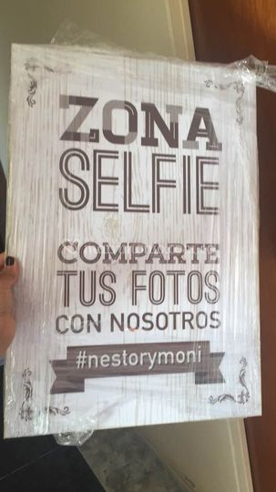 Letrero zona selfie