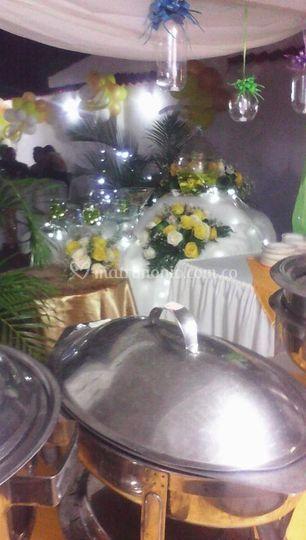 Buffet boda.