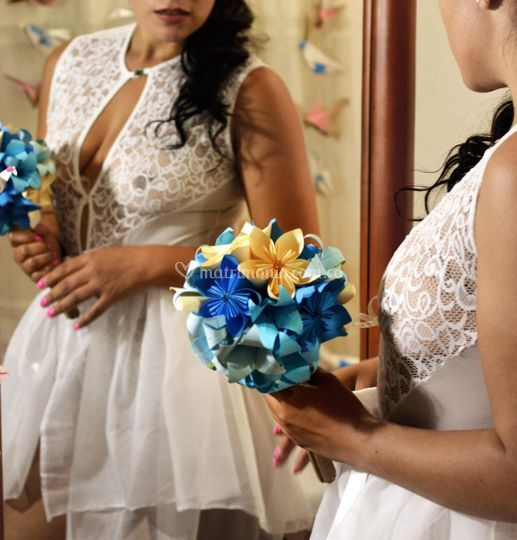 Ramo azul de novia