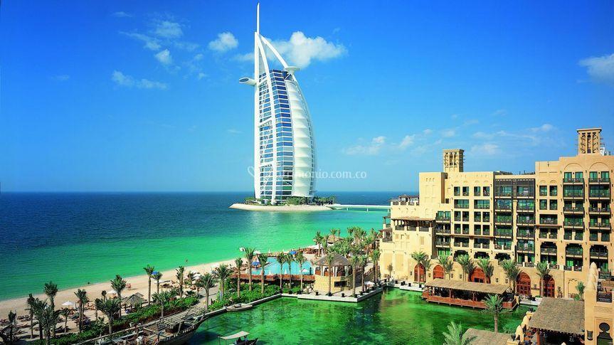 Dubai playa y ciudad