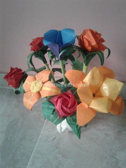 Flores, colores, tamaños