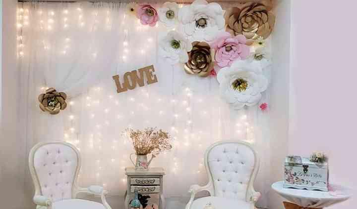 Escenario para fotos boda