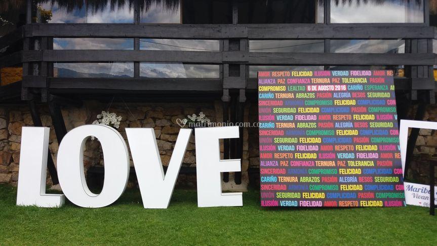 Letras love y backing