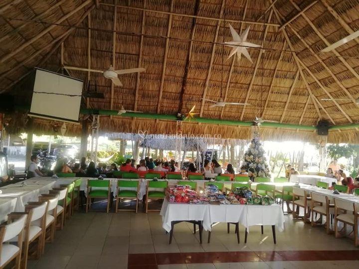 Amplio espacio techado