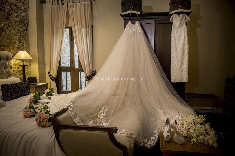 Gran vestido de bodas