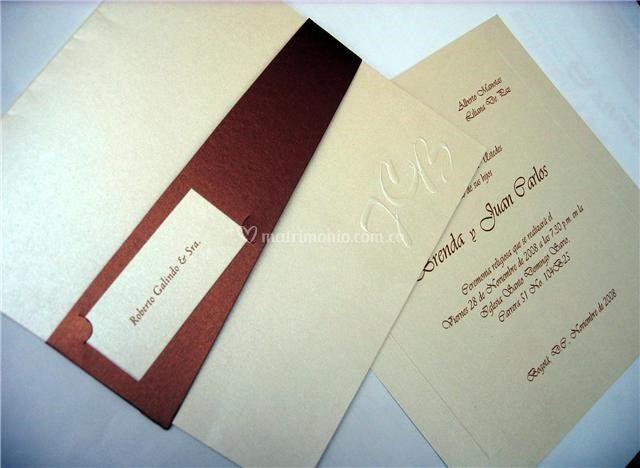 Tarjeta de matrimonio