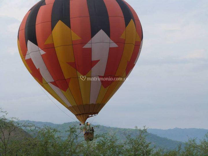 Regalo  : vuelo en globo