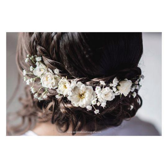 Aplique en flores naturales