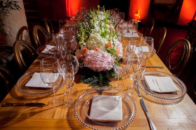 Montaje mesa invitados