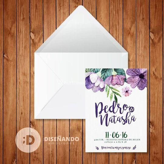 Invitación matrimonio, boda