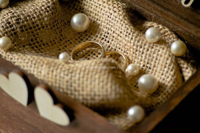 Cofre para anillos perlas