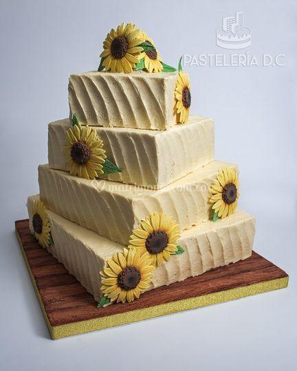 Torta rústica con girasoles