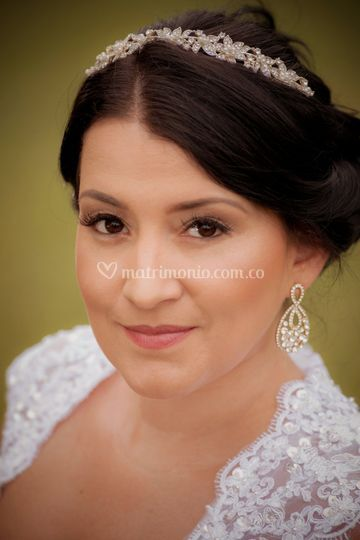 Retrato novia Feliz